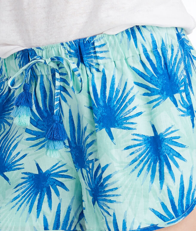 Electric Palm Print Shorts