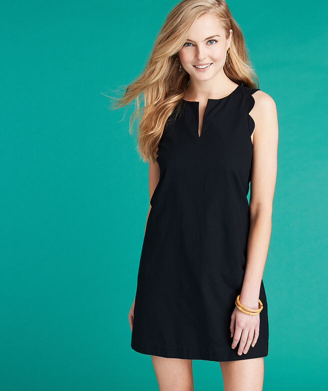 Scalloped Cisco Swing Dress