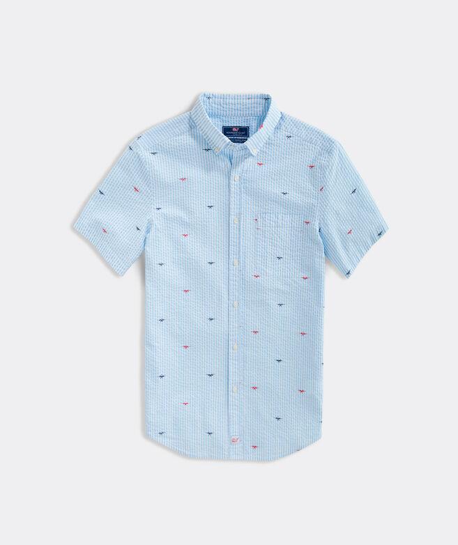 Big & Tall Classic Fit Seaplanes Short-Sleeve Murray Button-Down Shirt