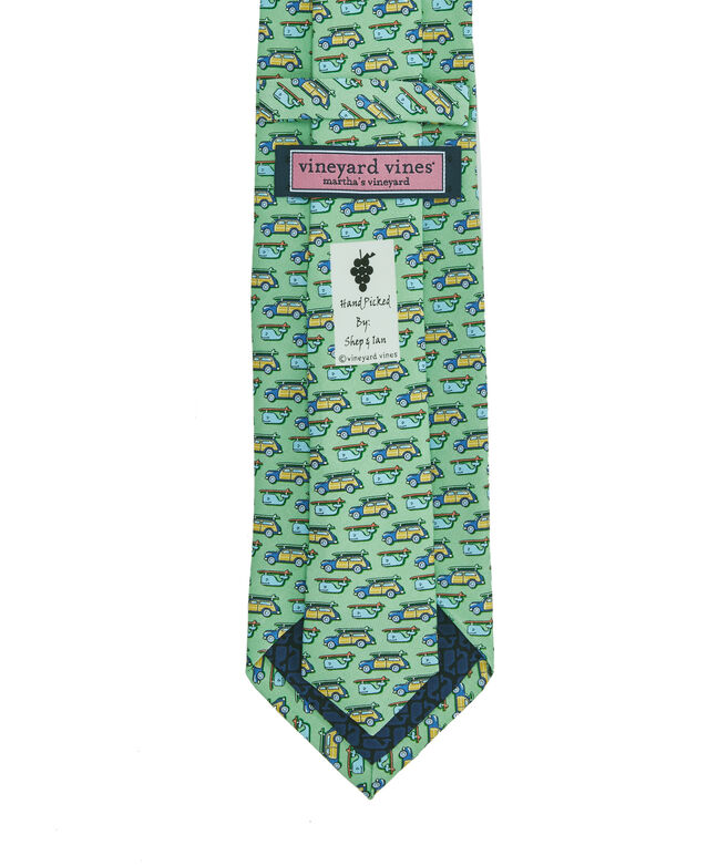 Woody & Surfboard Printed Tie