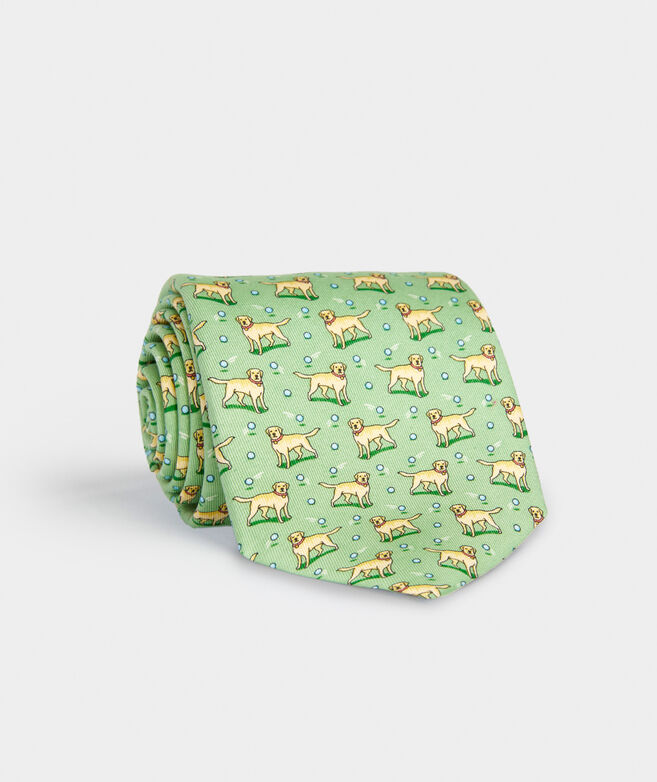 Yellow Lab Printed Tie
