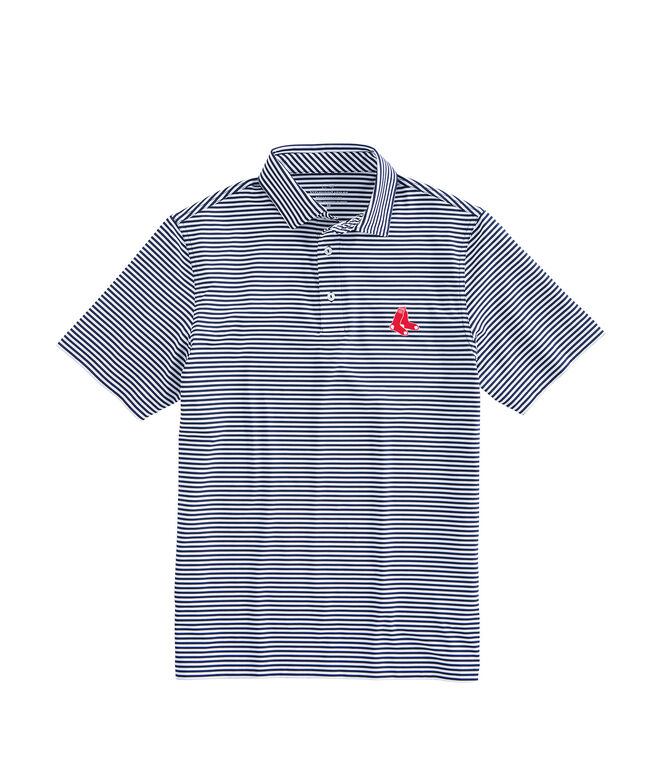 Boston Red Sox Winstead Stripe Sankaty Performance Polo
