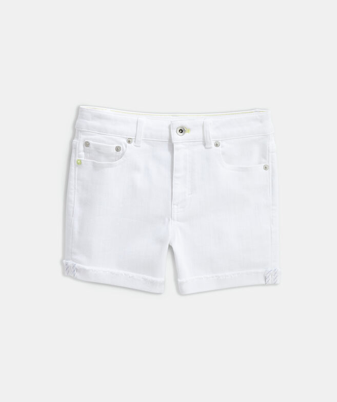 Girls' Raw Hem Denim Shorts