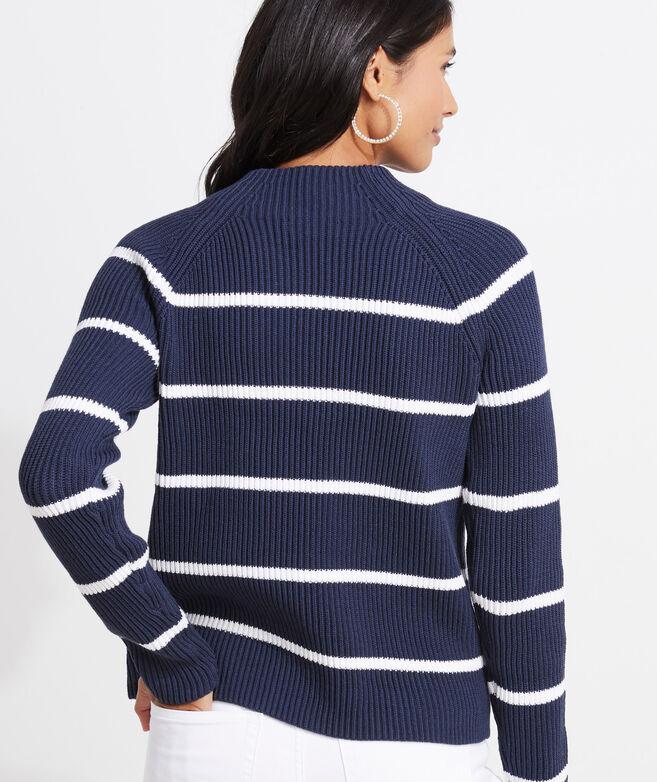 Ribbed Striped Crewneck Sweater