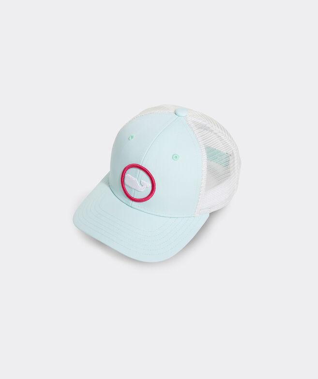 Girls' Glow Whale Dot Performance Trucker Hat