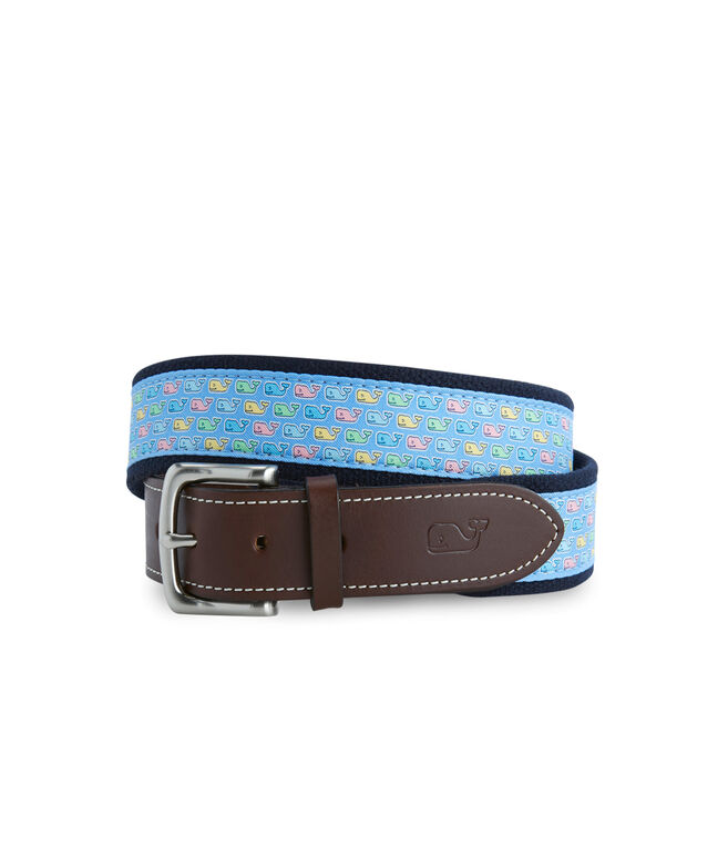 Easter Whale Canvas Club Belt