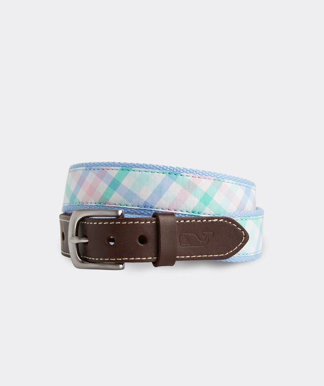 Boys' Gingham Canvas Club Belt