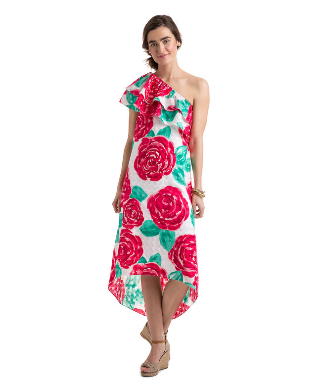 Run For The Roses One Shoulder Dress