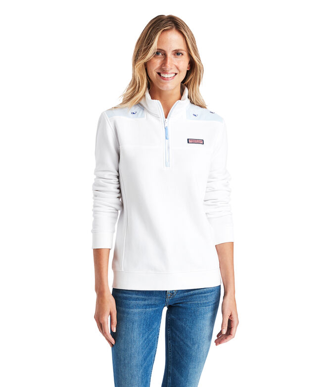 Classic Whale Embroidered Oxford Shep Shirt