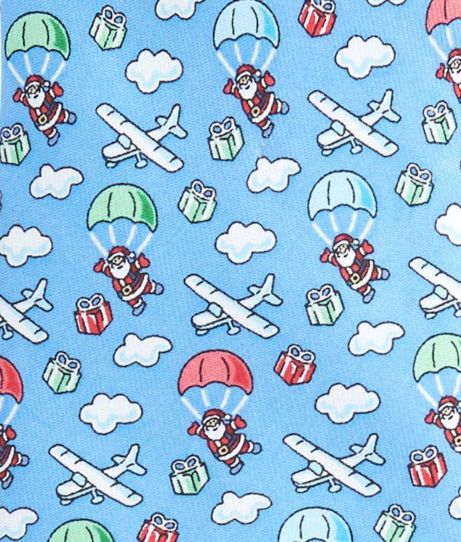 Skydiving Santa Tie