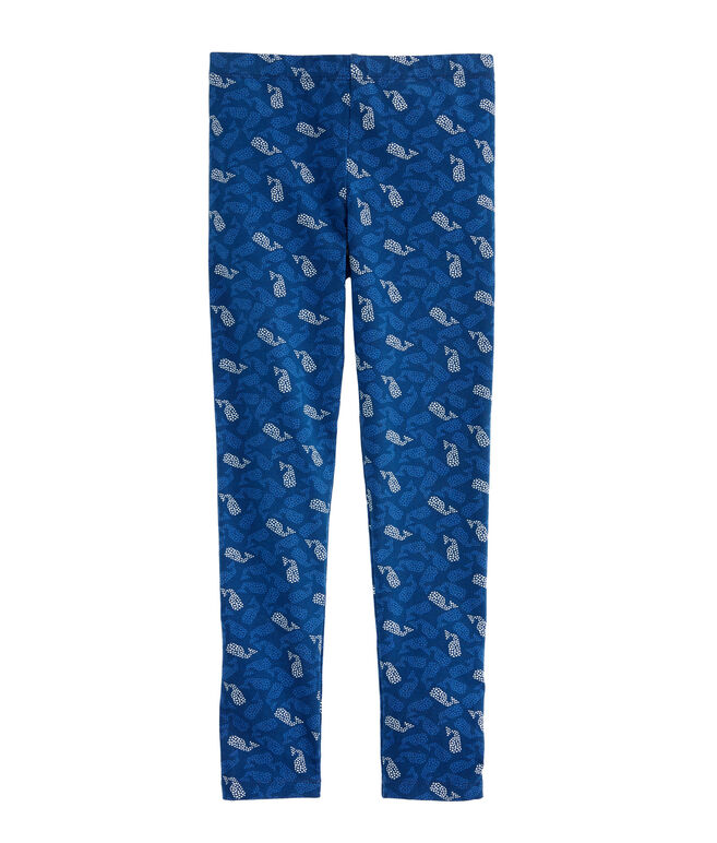 Girls Polka Dot Whales All Day Leggings