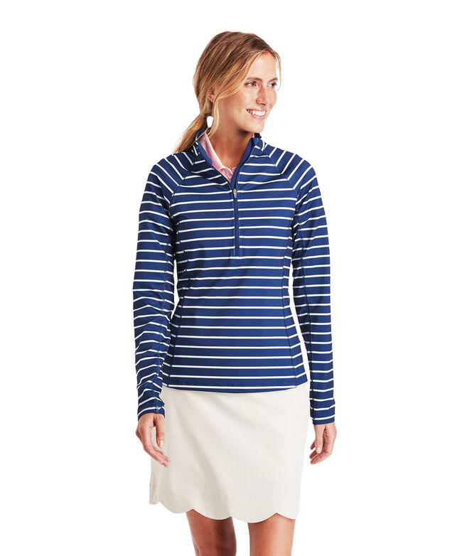 Striped 1/2-Zip