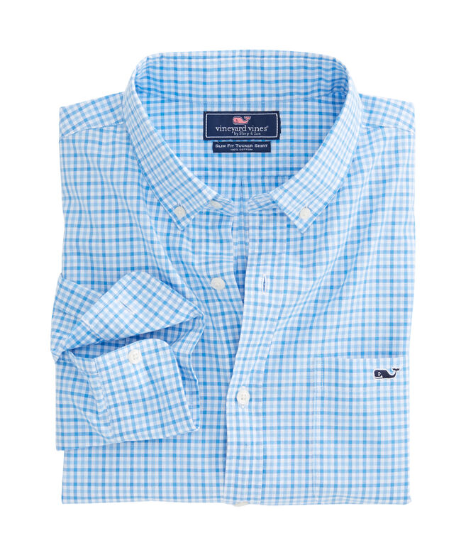 Tipsy Turtle Check Slim Tucker Shirt
