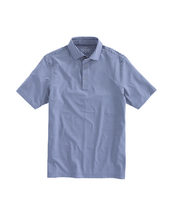 Mens Kennedy Stripe Sankaty Performance Polo