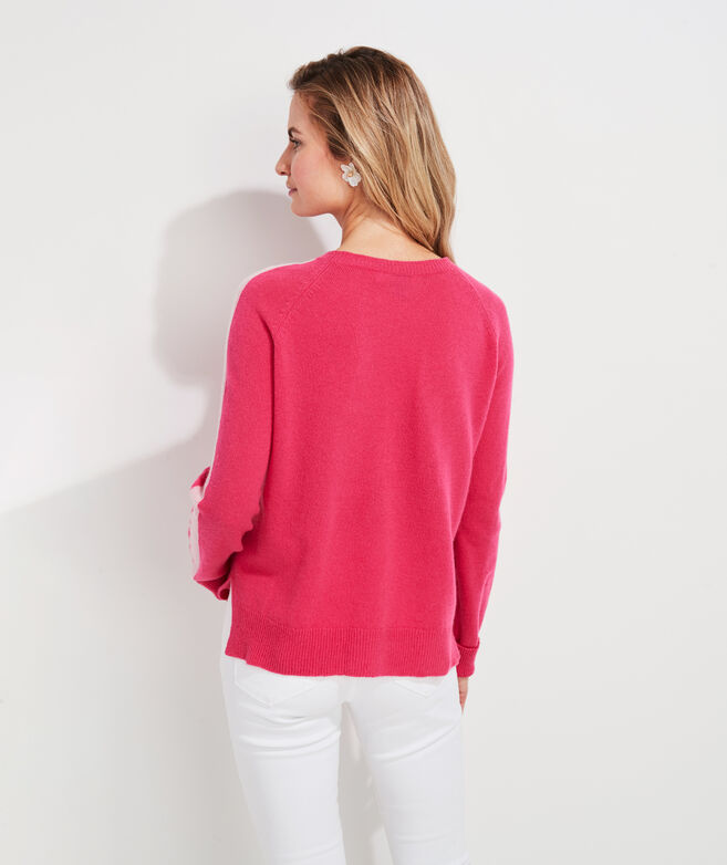 Raglan Striped Lofty Cashmere Crewneck