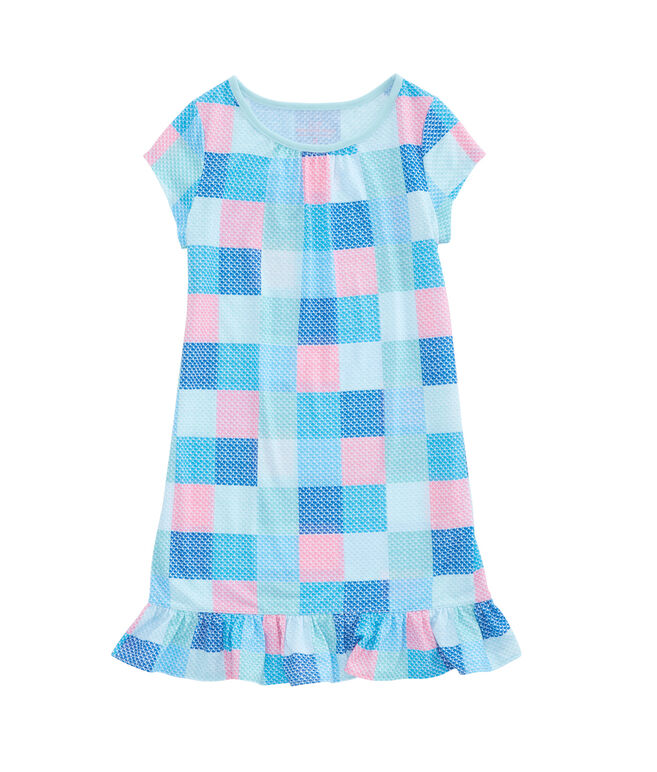 Girls Patchwork Whale Nightgown