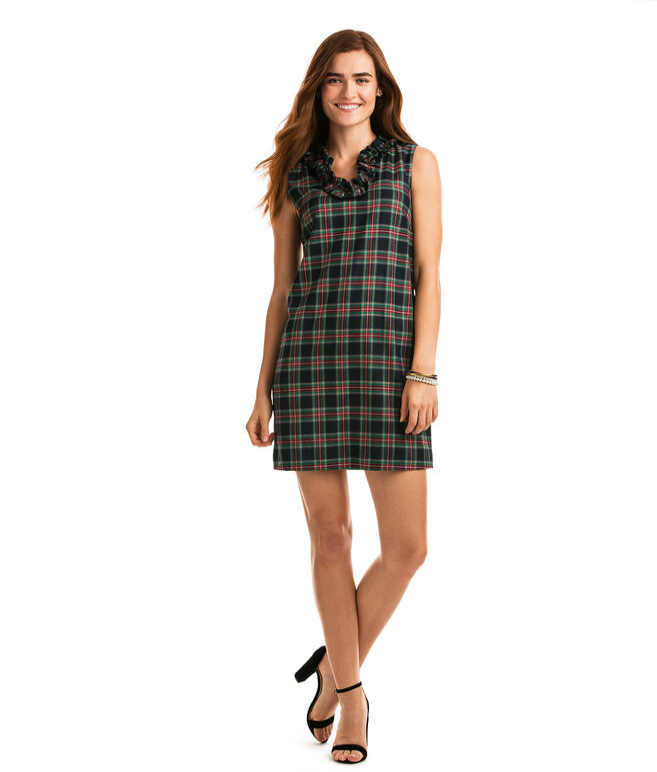Holiday Tartan Ruffle Dress