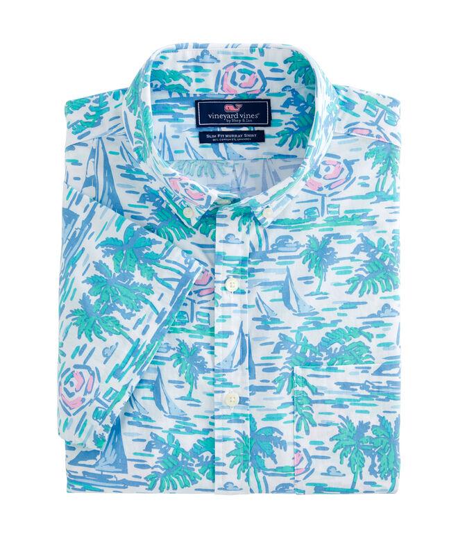 Slim Fit Ocean Terrace Murray Short-Sleeve Button-Down Shirt