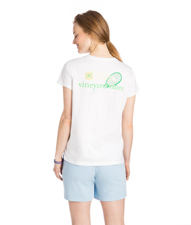 Tennis Rally Relaxed Pocket Tee