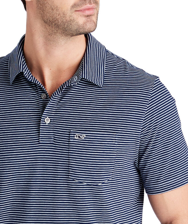 Colored Shep Stripe Edgartown Polo