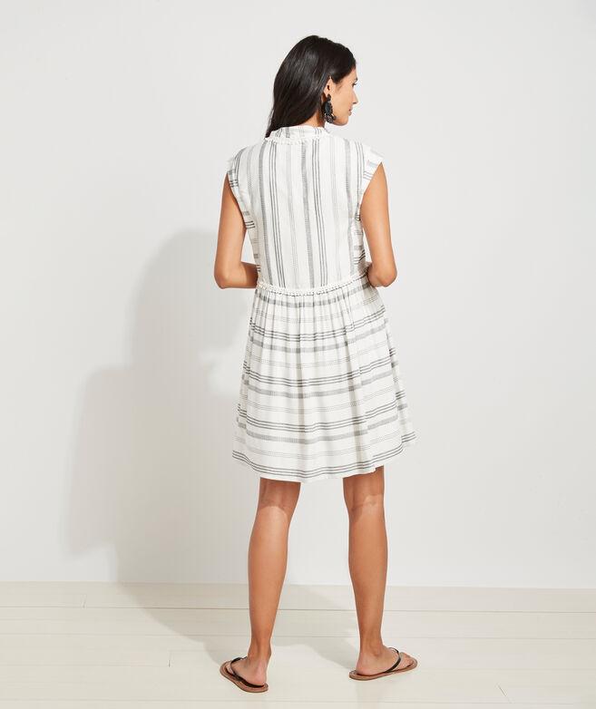 Mini Pom Stripe Dress