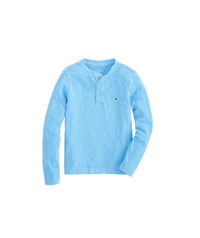 f685cf39723 Shop Boys Jersey Garment Dye Slub Henley Shirt at vineyard vines
