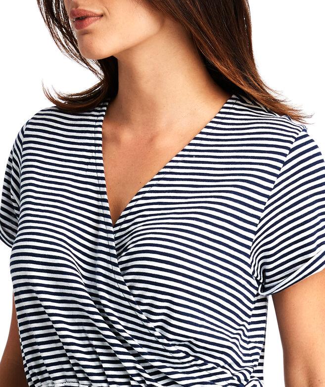 Striped Knit Wrap Top