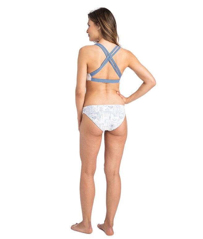 Schematic Strap Reversible Bikini Top