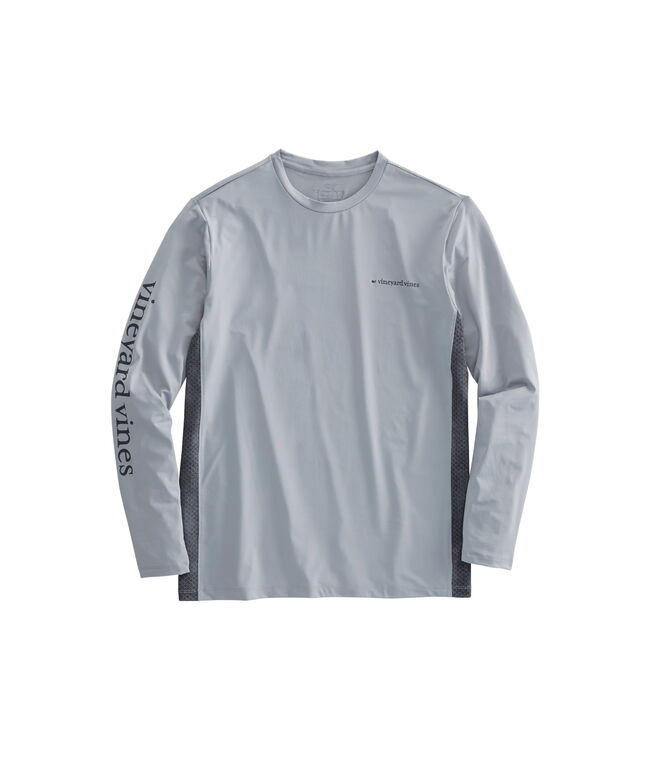 Long-Sleeve Performance Side Panel Fish Scale T-Shirt