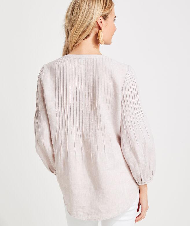 Linen Pintuck Tunic