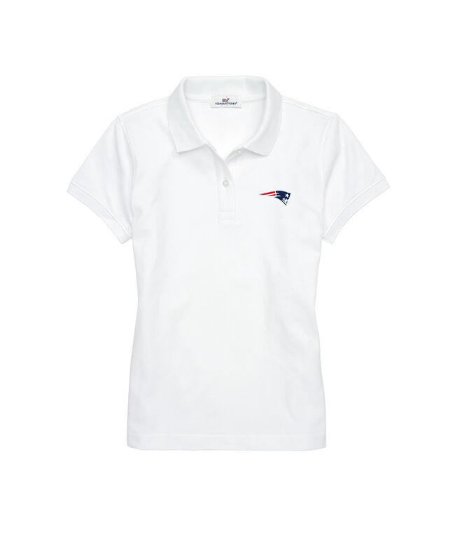 Womens Patriots Short-Sleeve Pique Polo