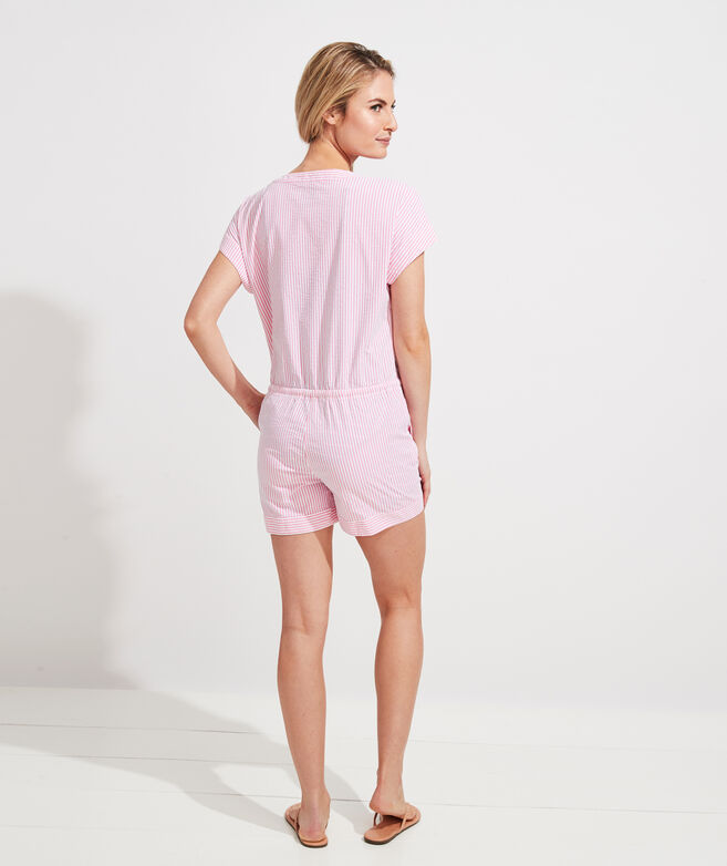 Vineyard Seersucker Romper