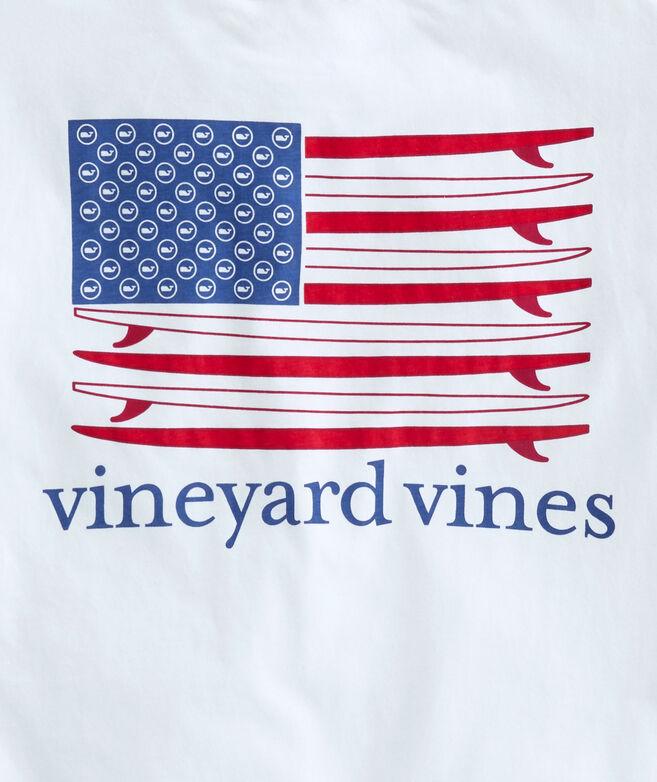 American Surfboard Flag Short-Sleeve Pocket T-Shirt