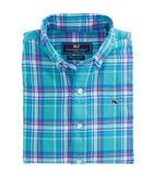 Boys Sculpin Plaid Flannel Whale Shirt