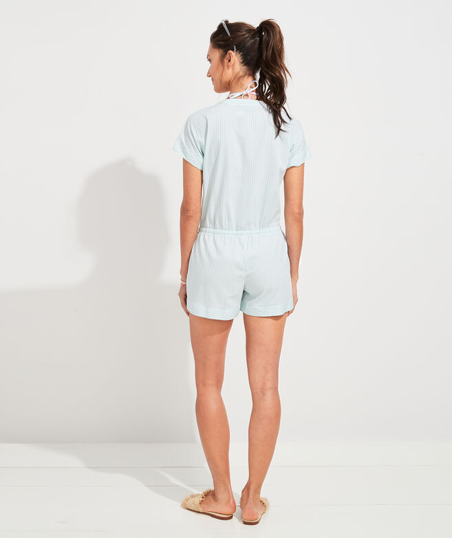 Seersucker Romper Cover-Up