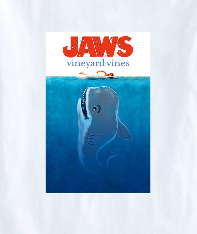 Adult Limited-Edition JAWS x vineyard vines Holiday Poster Short-Sleeve Pocket Tee