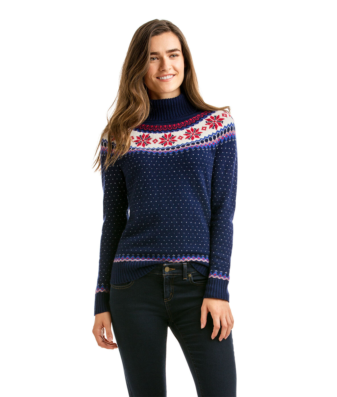Shop Snowflake Fair Isle Turtleneck at vineyard vines