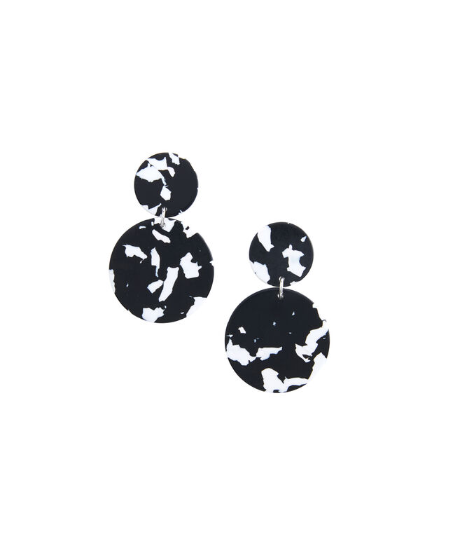 Marbled Circle Earrings