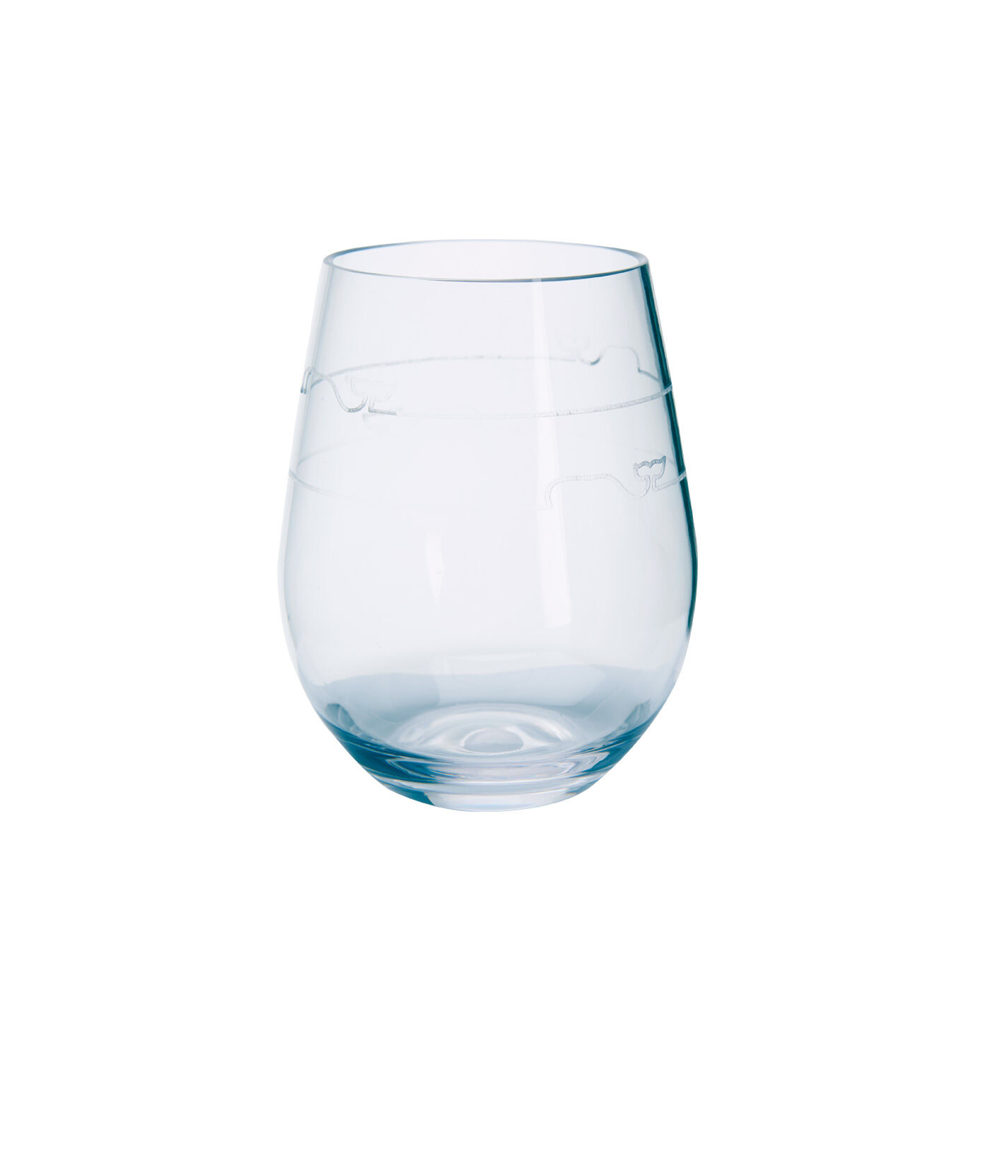 whale line acrylic stemless wine glasses 4 zoom in - Plastic Stemless Wine Glasses