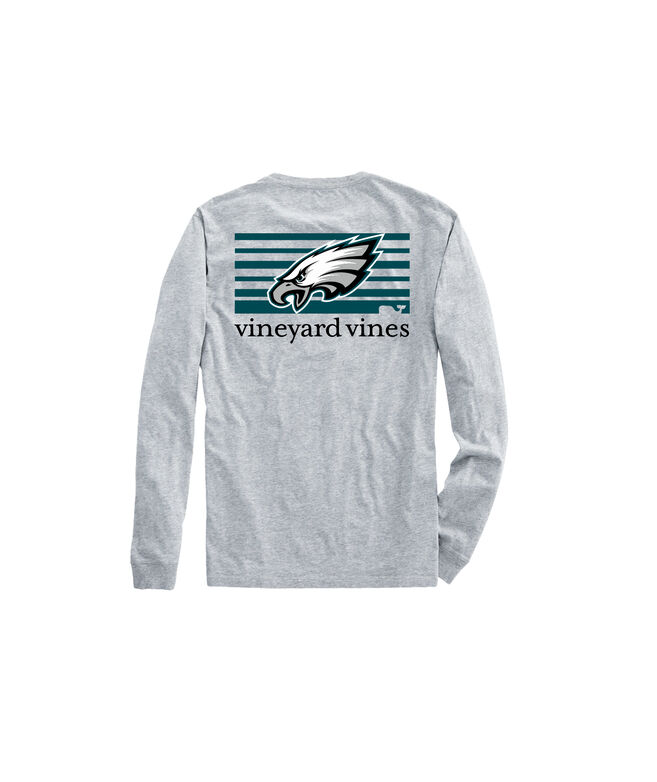 7ad5a5e4 Adult Eagles Long-Sleeve Block Stripe T-Shirt