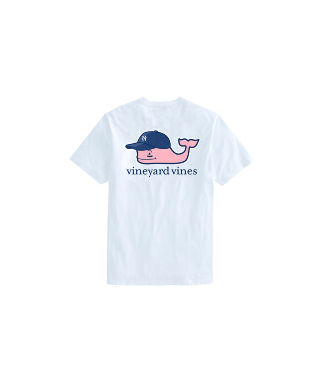 Kids Yankees Baseball Cap Pocket T-Shirt