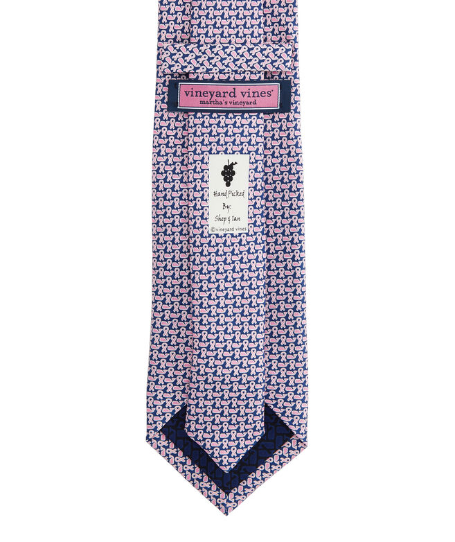 Extra Long Breast Cancer Awareness Micro Printed Tie
