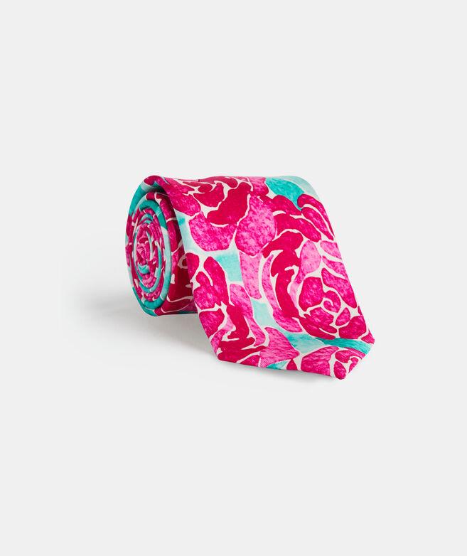 100 Painted Roses Printed Tie