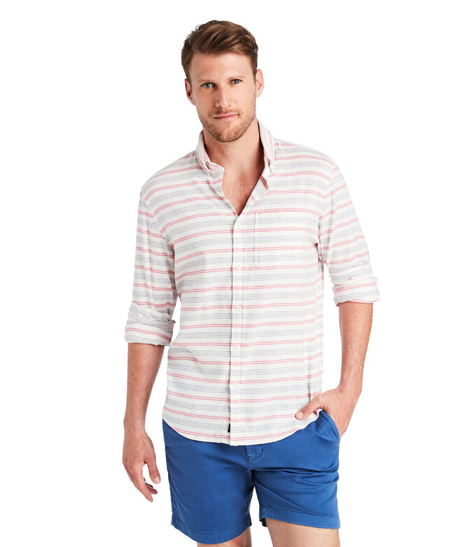 Slim Fit Cain Stripe Longshore Shirt