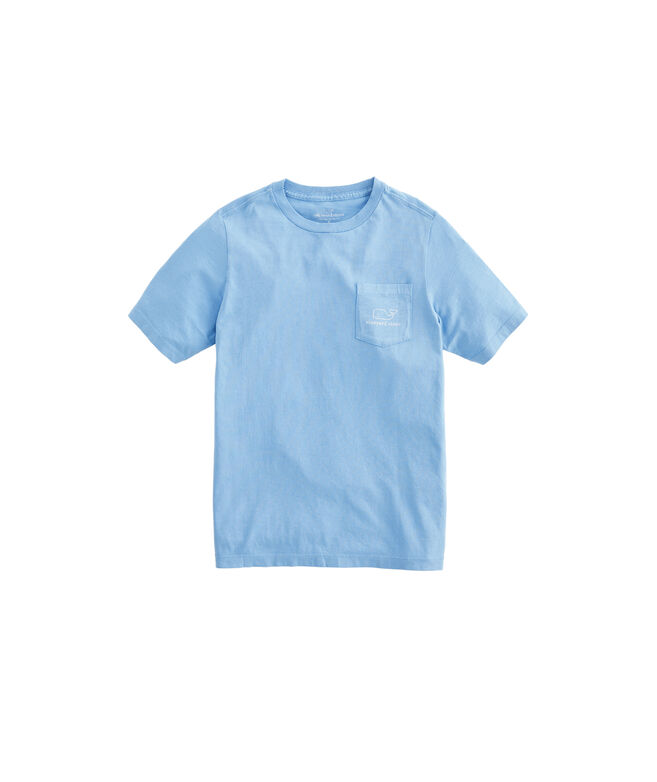 Boys Garment-Dyed Vintage Whale Short-Sleeve Pocket T-Shirt