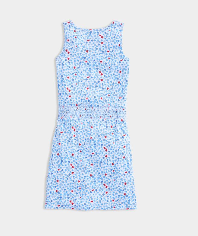 Girls' Printed Smocked Waist Dress