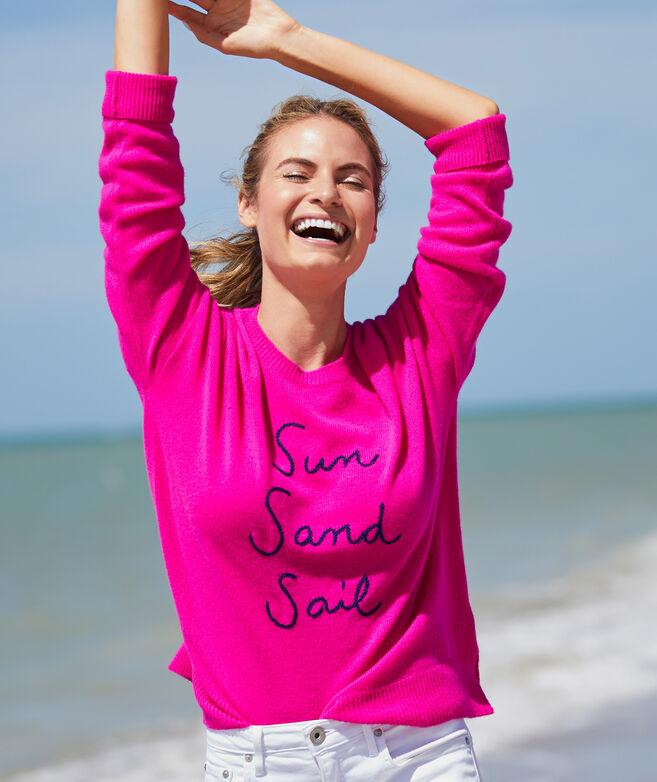 Lofty Cashmere Sun Sand Sail Sweater