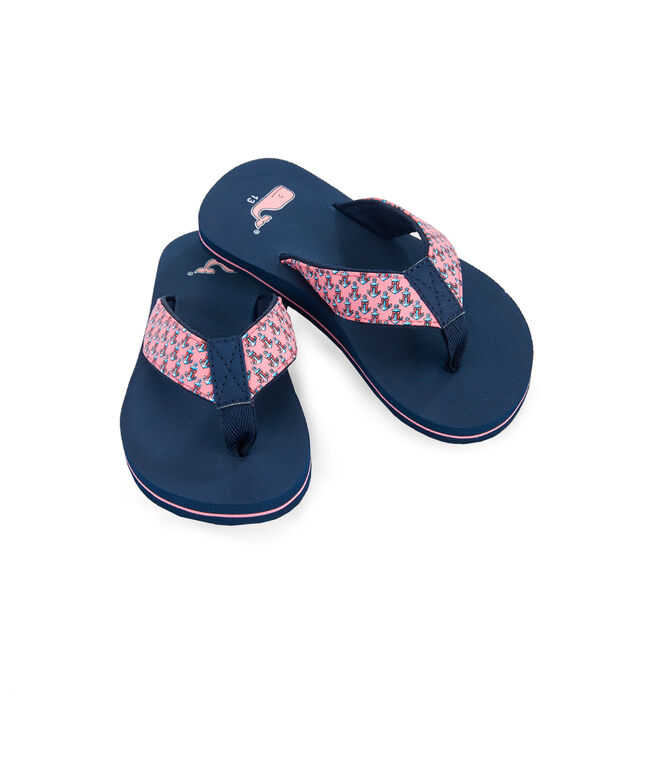 Girls Holiday Anchors Flip Flops