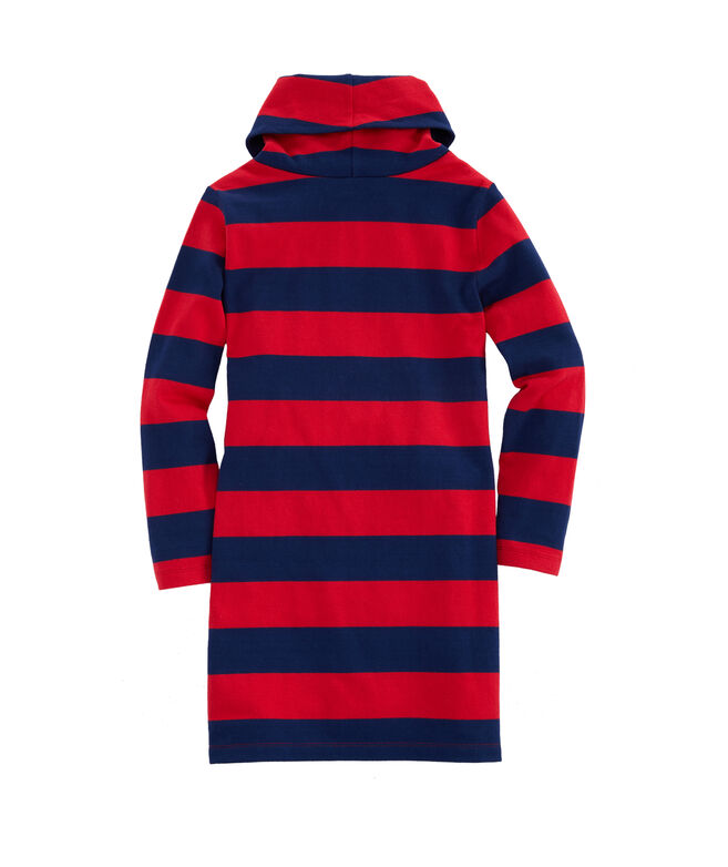 Girls Cove Rugby Stripe Cowl Neck Dress