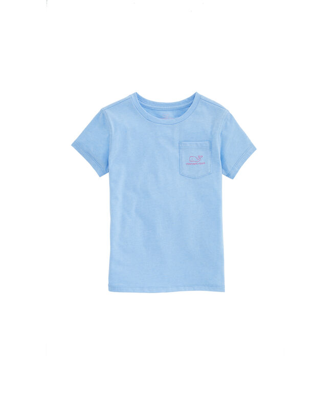 Girls Heather Vintage Whale Island Tee